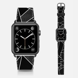 CASETIFY 38mm Leather Black Apple Watc…